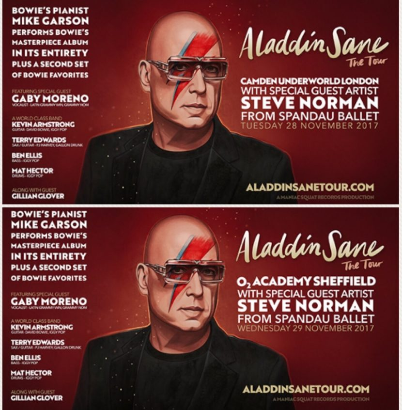 Steve Norman with Mike Garson