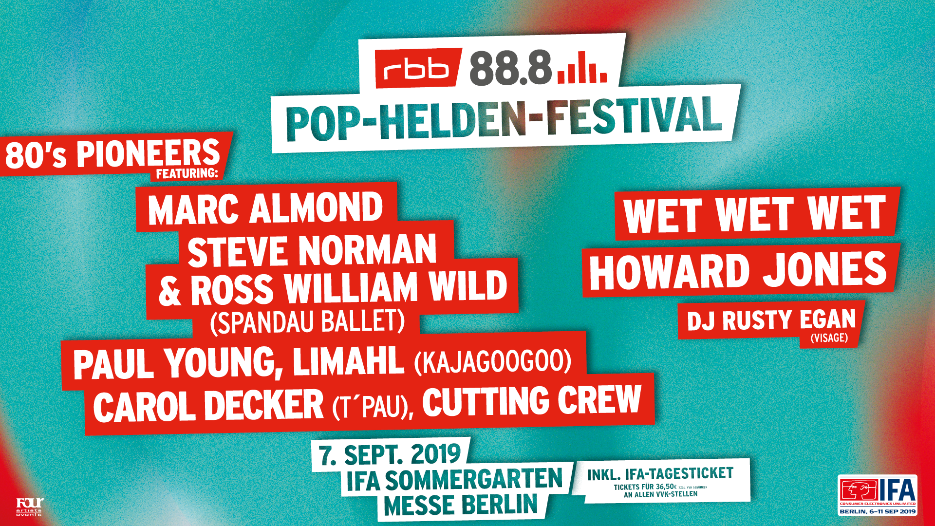 """80s PIONEERS"" AT POPHELDEN FESTIVAL & GOTTSCHALKS GROSSE 80er SHOW"