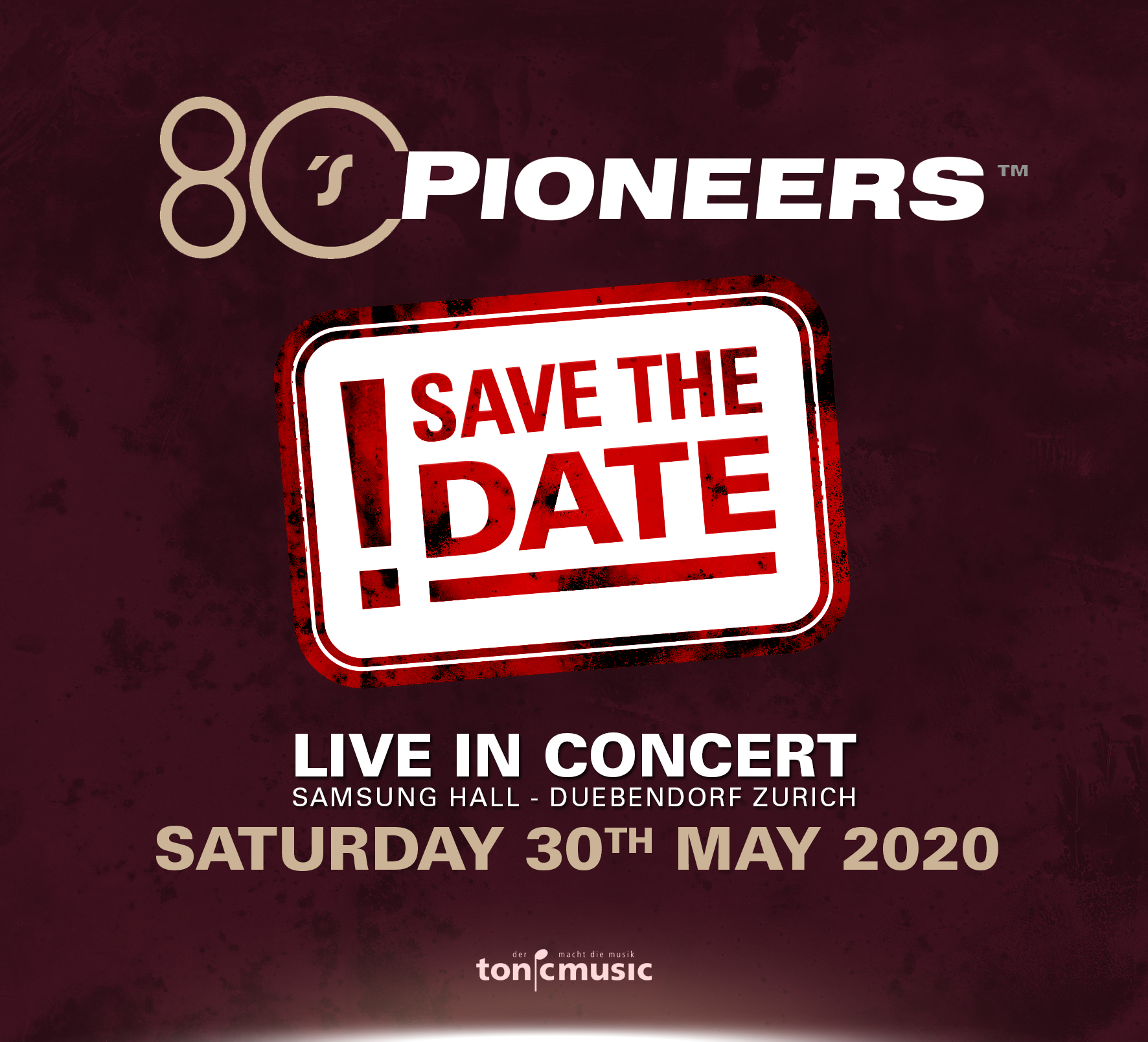 """80s PIONEERS"" GIG IN ZURICH ON MAY 30"
